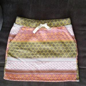 Xhilaration boho army green pink yellow skirt